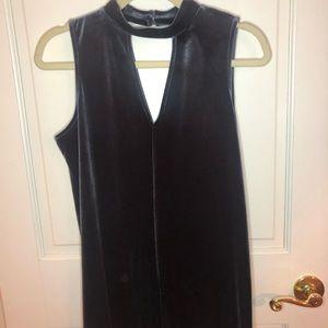 Blue Velvet Soprano Mini Dress
